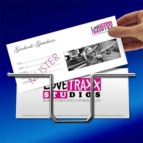 Lovetraxx Studios - Tonstudio Geschenk Gutschein
